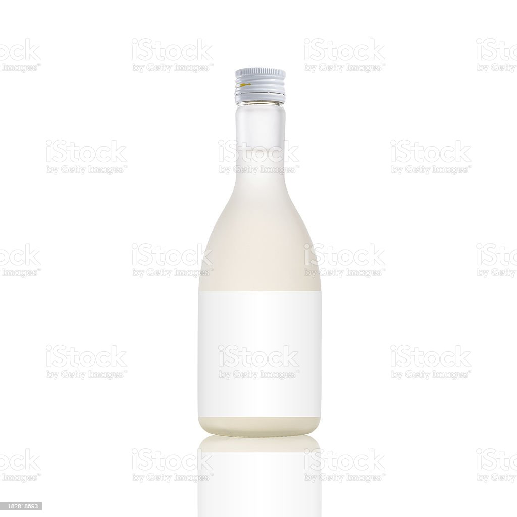 Japanese Saki Wine Bottle stock photo