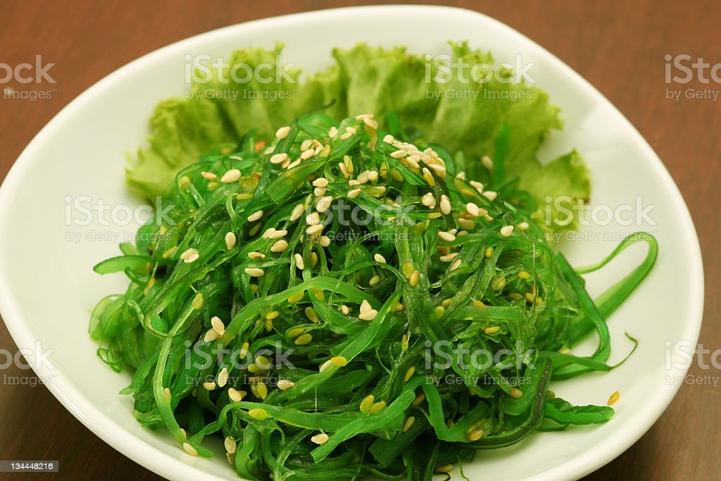 japanese salad stock photo