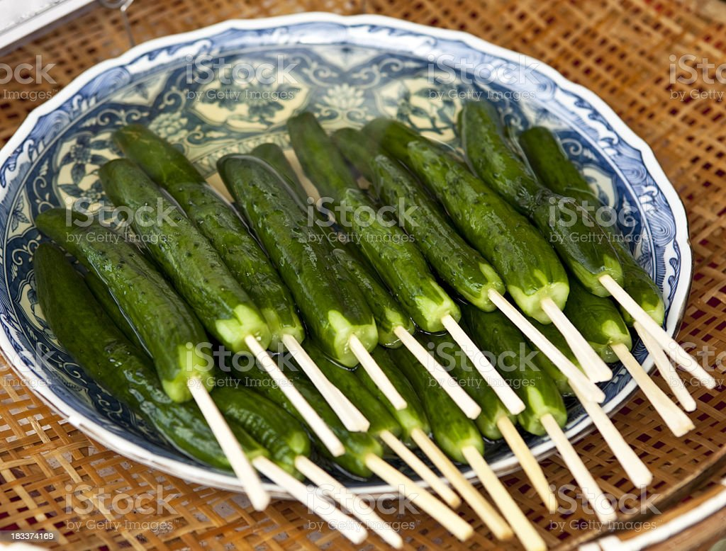 japanese salty cucumbers royalty-free stock photo