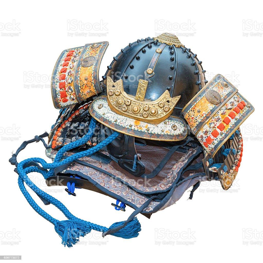 Japanese Samurai War Helmet stock photo