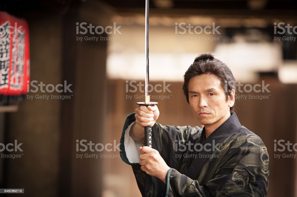 Japanese Samurai Warrior stock photo