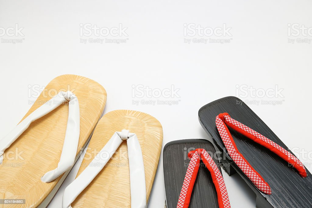 Japanese sandals for men and women. stock photo