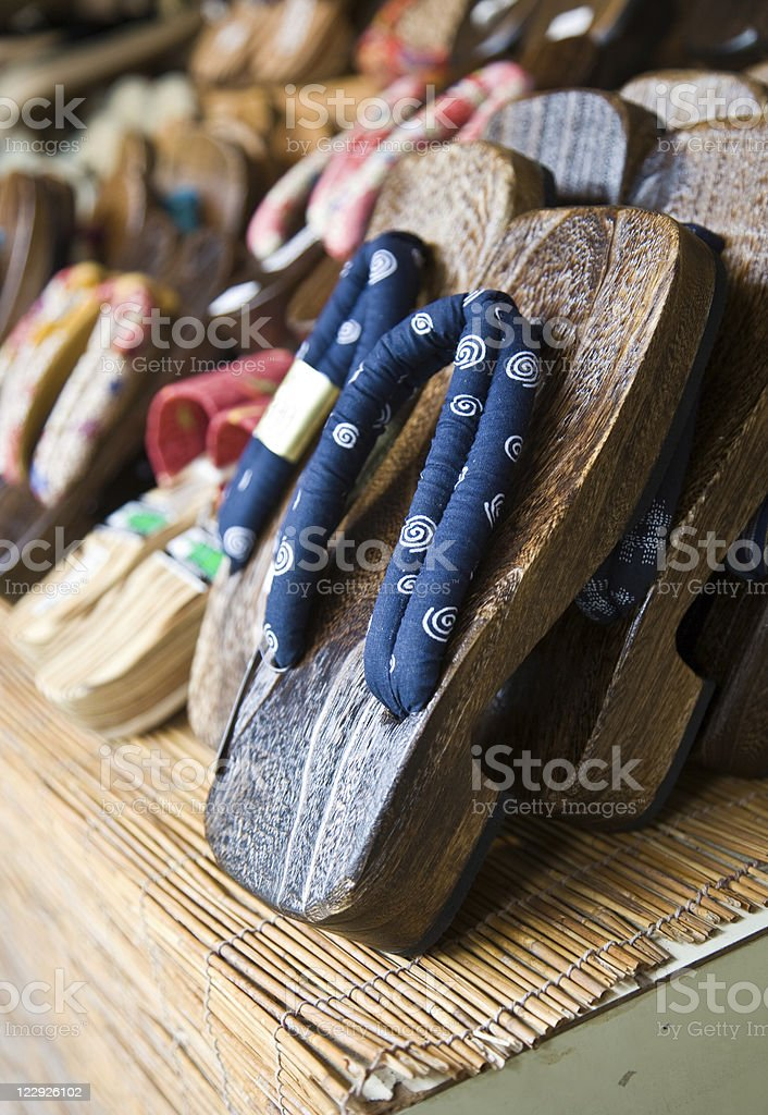 Japanese sandals royalty-free stock photo