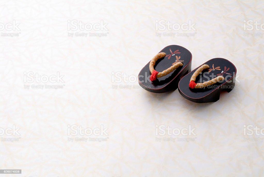 Japanese sandals stock photo