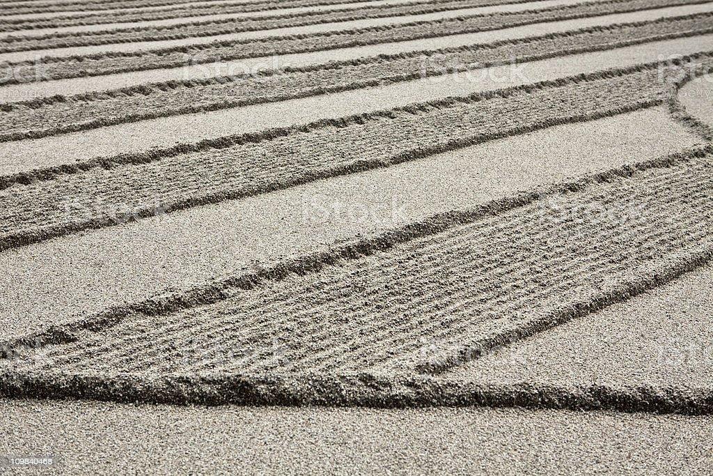 japanese sandgarden royalty-free stock photo