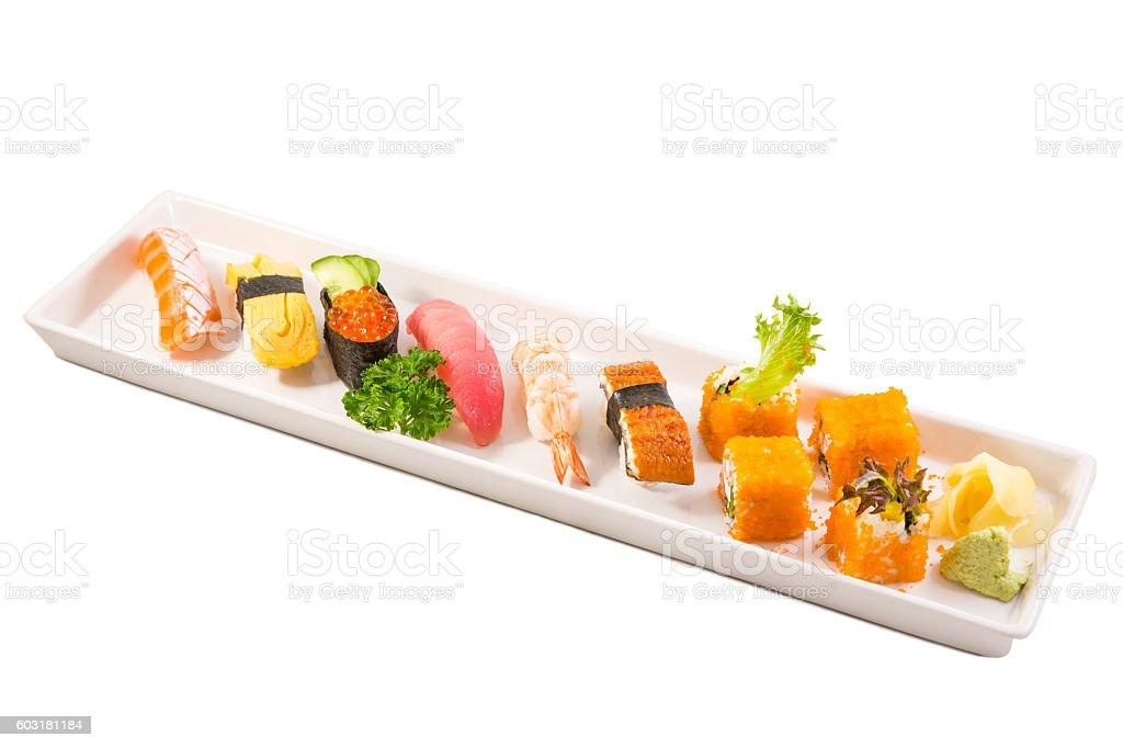 Japanese sashimi sushi set stock photo