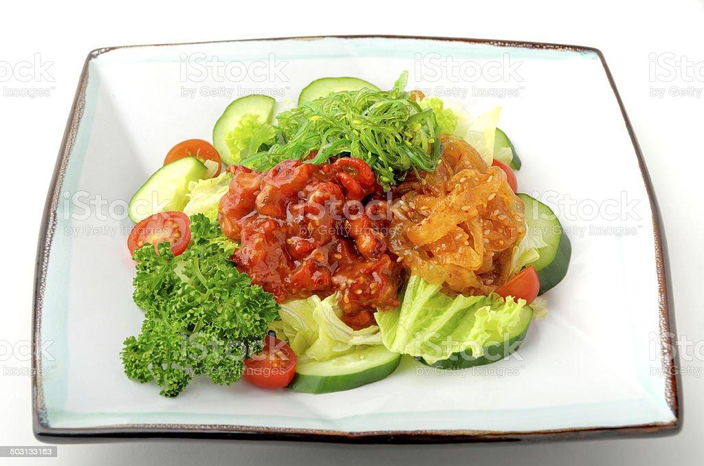 Japanese Seafood Salad stock photo
