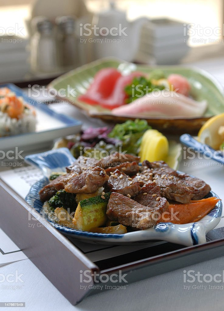 Japanese seasoned beef royalty-free stock photo