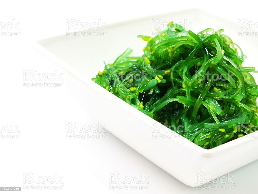 japanese seaweed salad stock photo