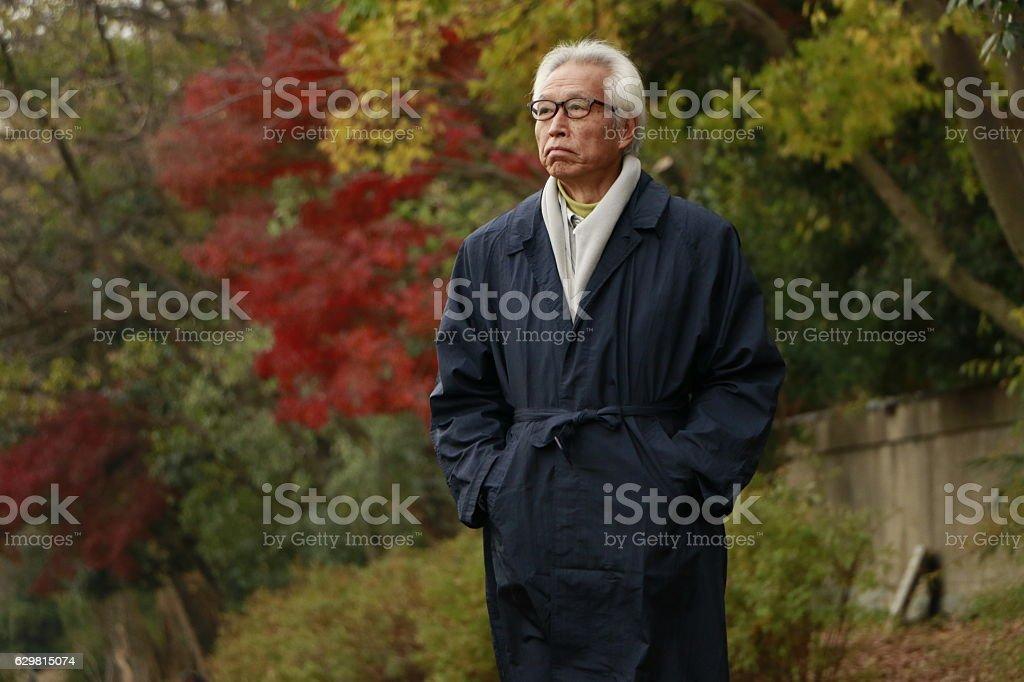 Japanese senior man stock photo