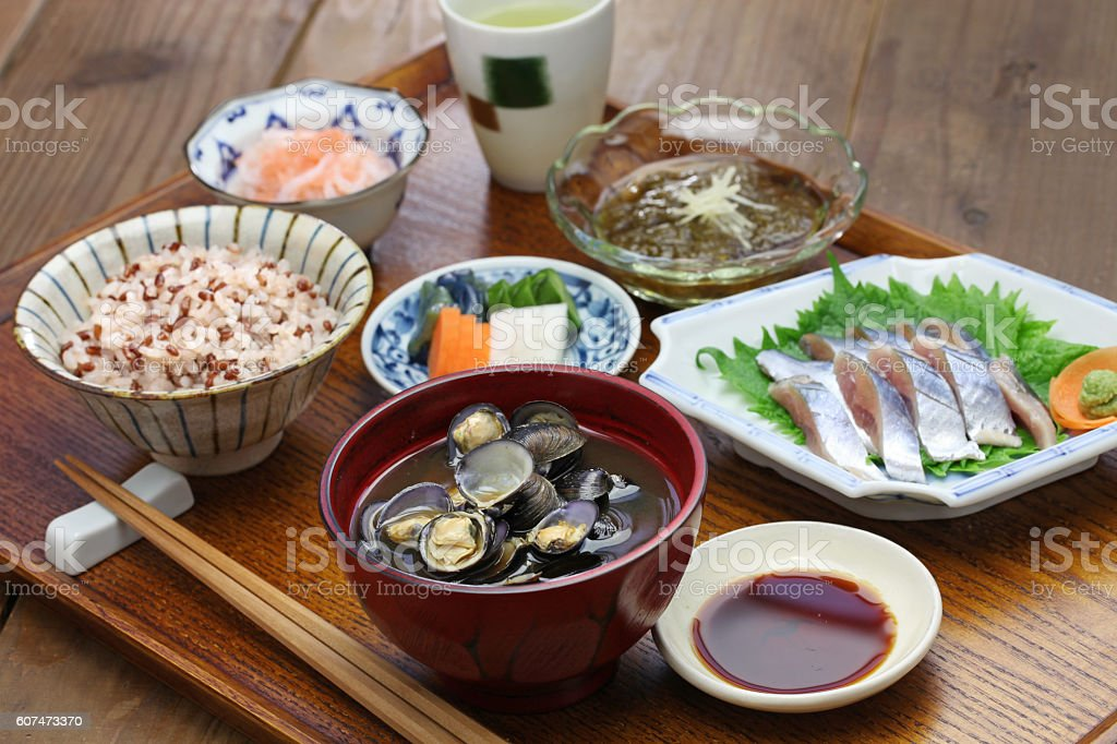 japanese set meal stock photo