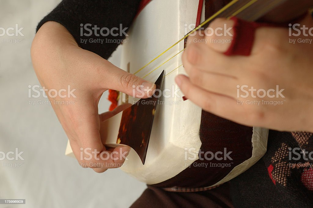 Japanese Shamisen stock photo
