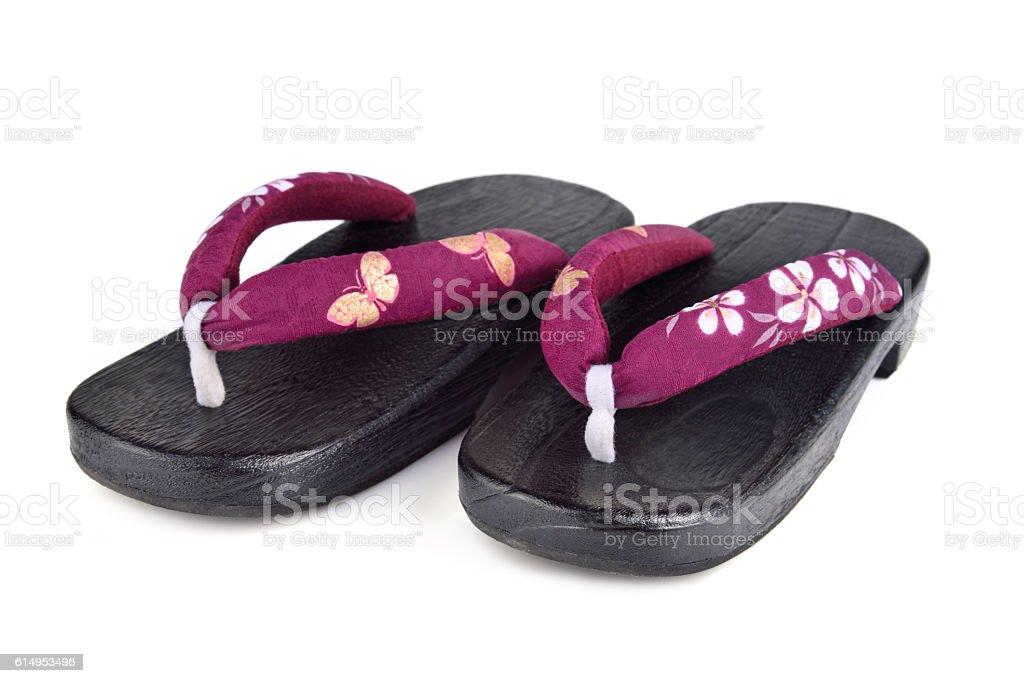 Japanese shoes stock photo