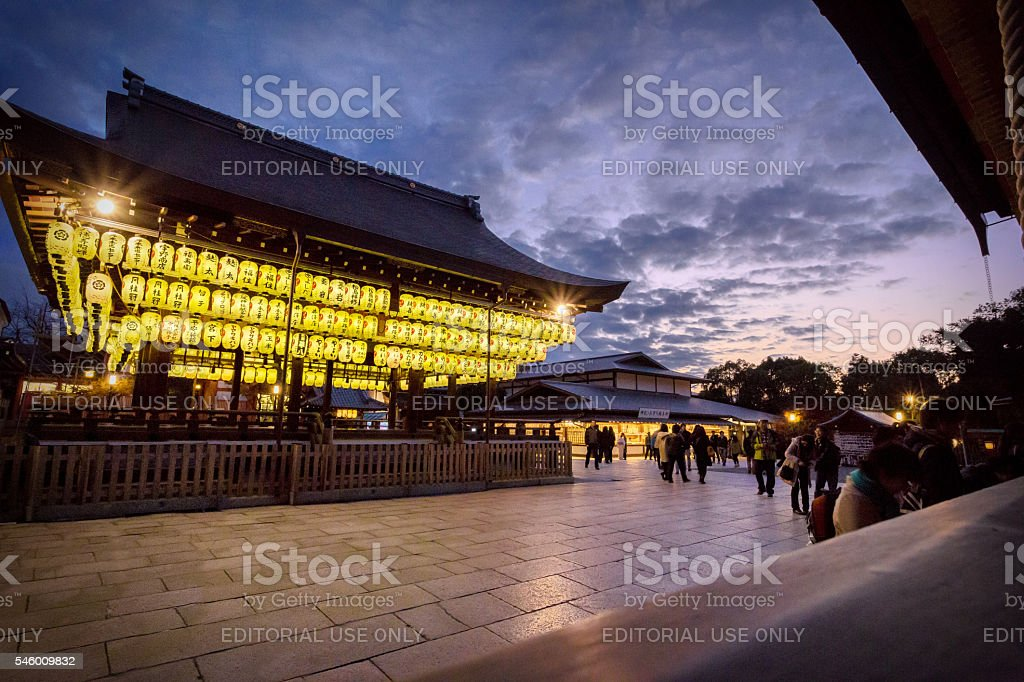 Japanese shrine in Kyoto, Japan stock photo