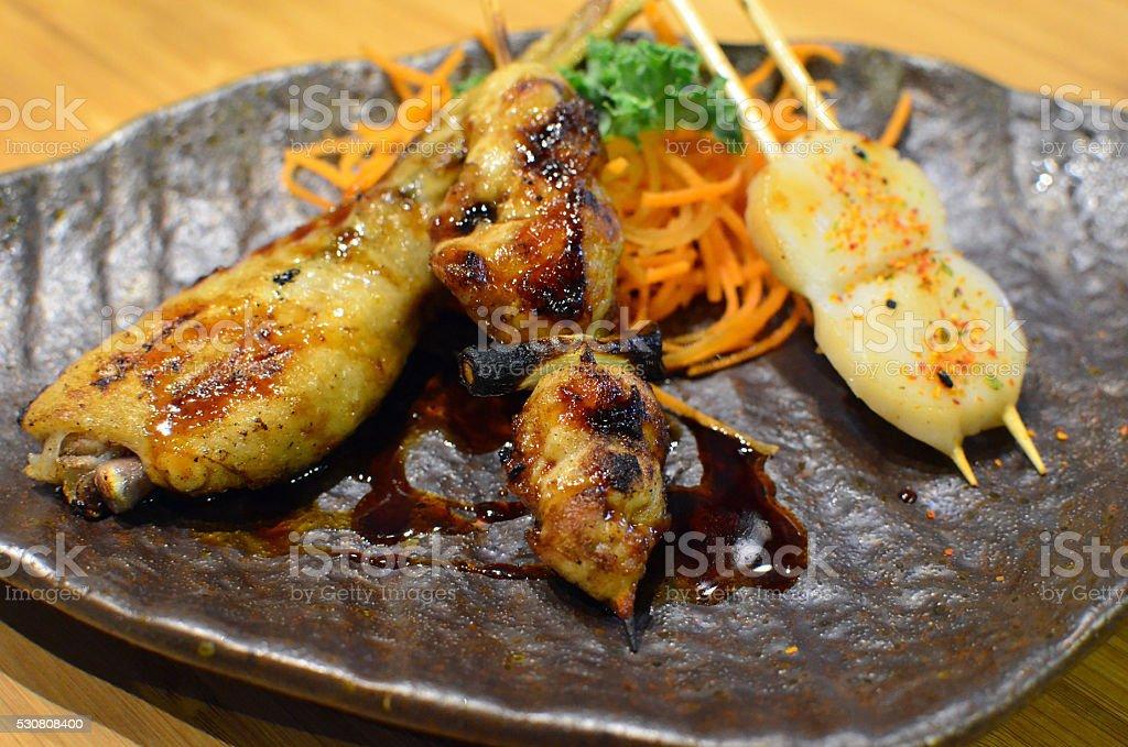 Japanese skewers stock photo