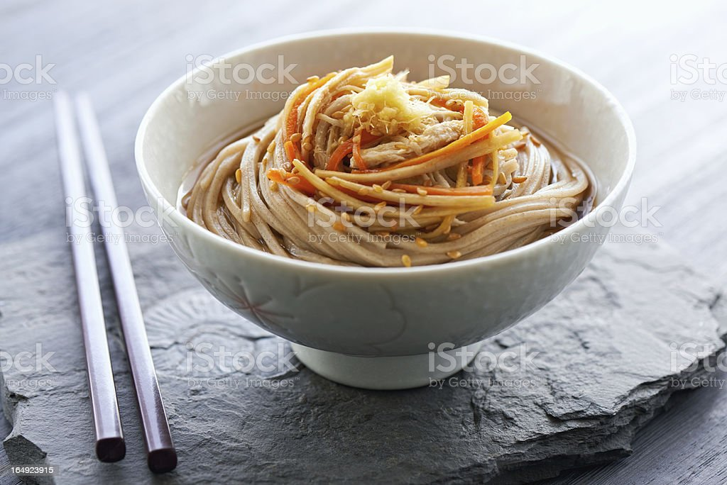 Japanese soba noodle stock photo