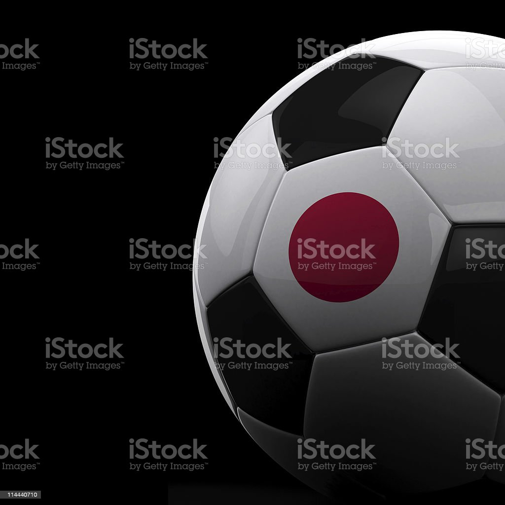 Japanese soccer ball royalty-free stock vector art