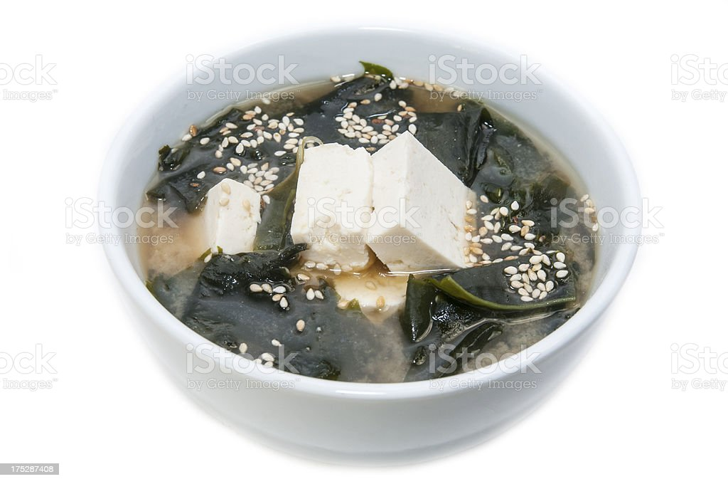 Japanese soup with cheese royalty-free stock photo
