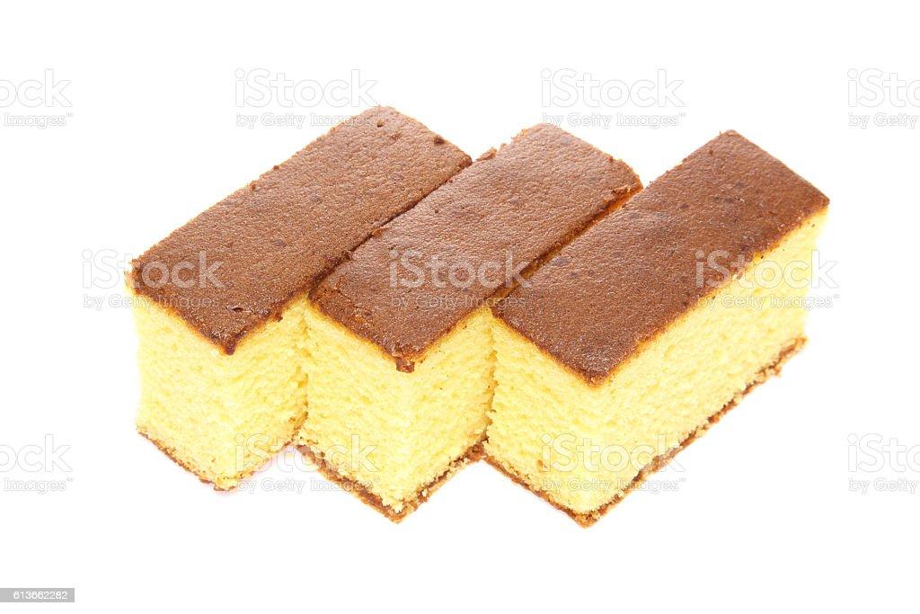 Japanese sponge cake stock photo
