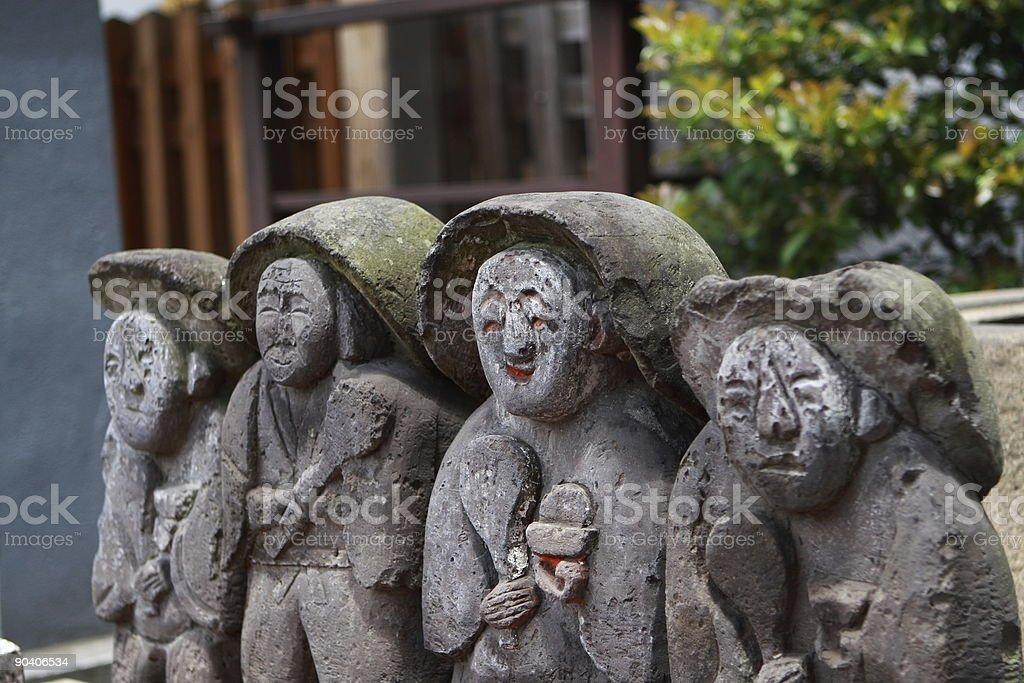 Japanese statue royalty-free stock photo