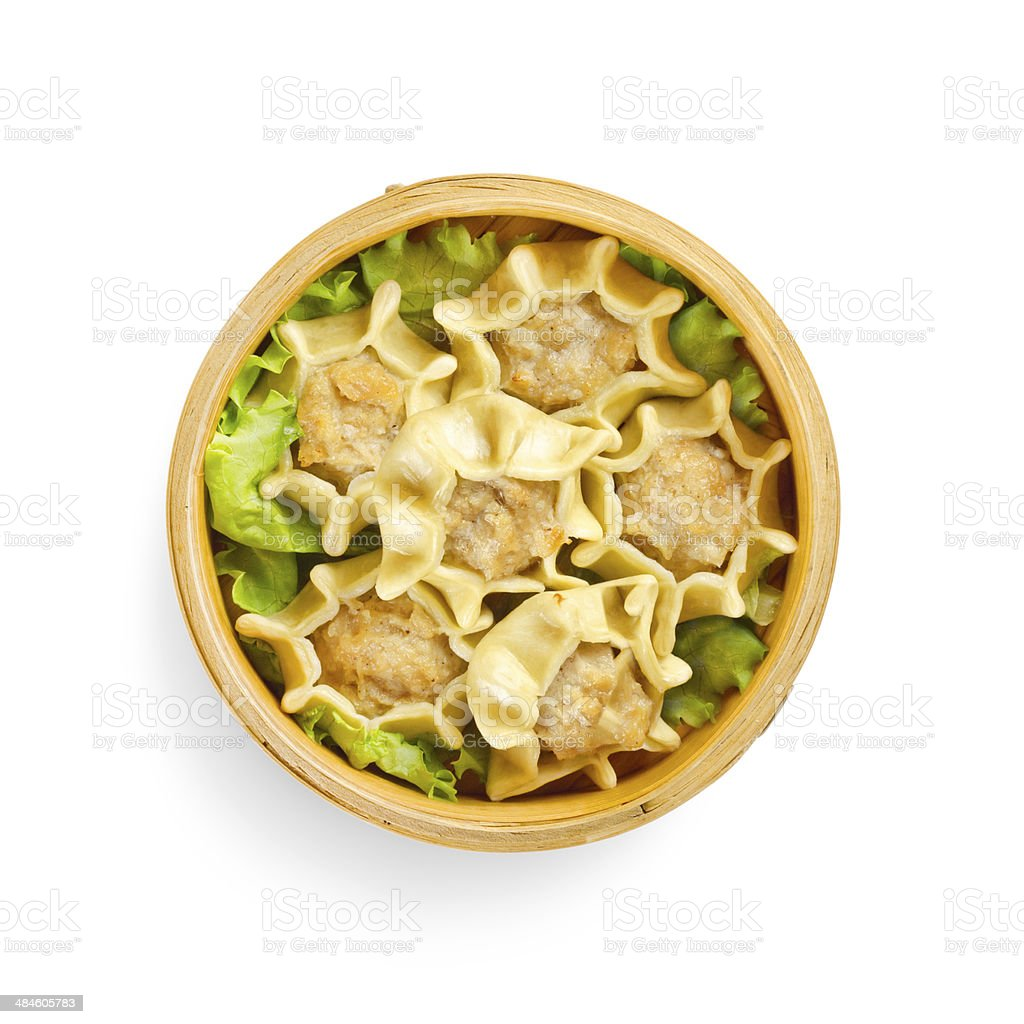 japanese steamed dumplings with lamb and vegetables. traditional royalty-free stock photo