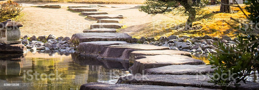 Japanese Stepping stone stock photo