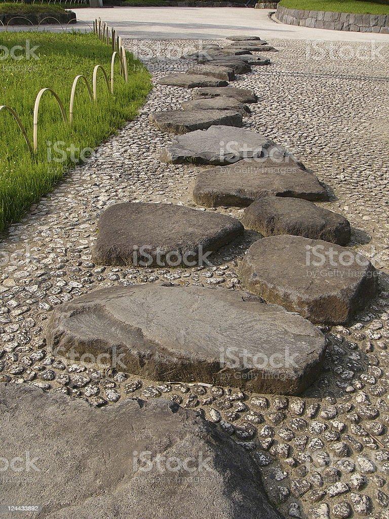japanese stone way royalty-free stock photo