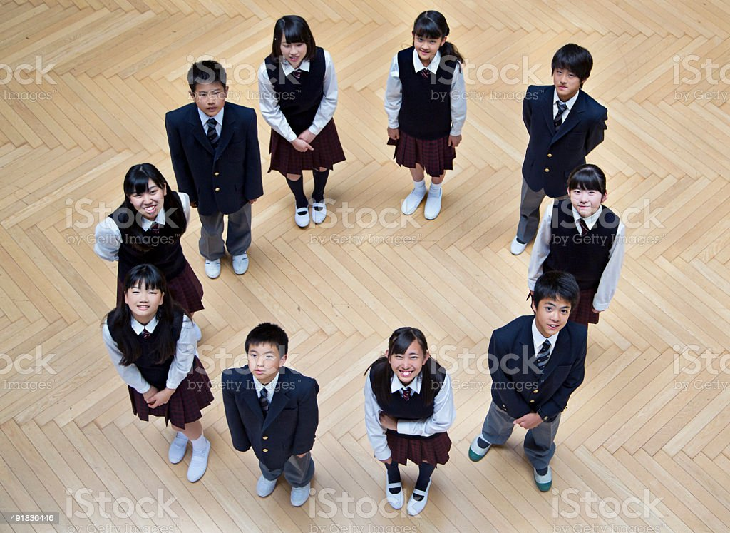 Japanese students stock photo