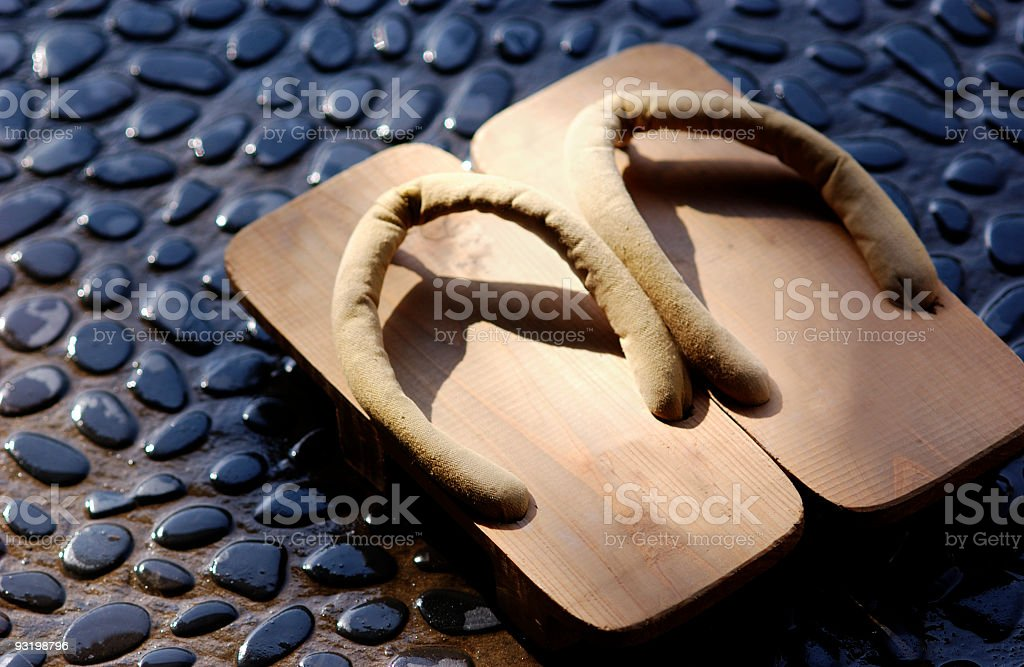 Japanese style footwear stock photo