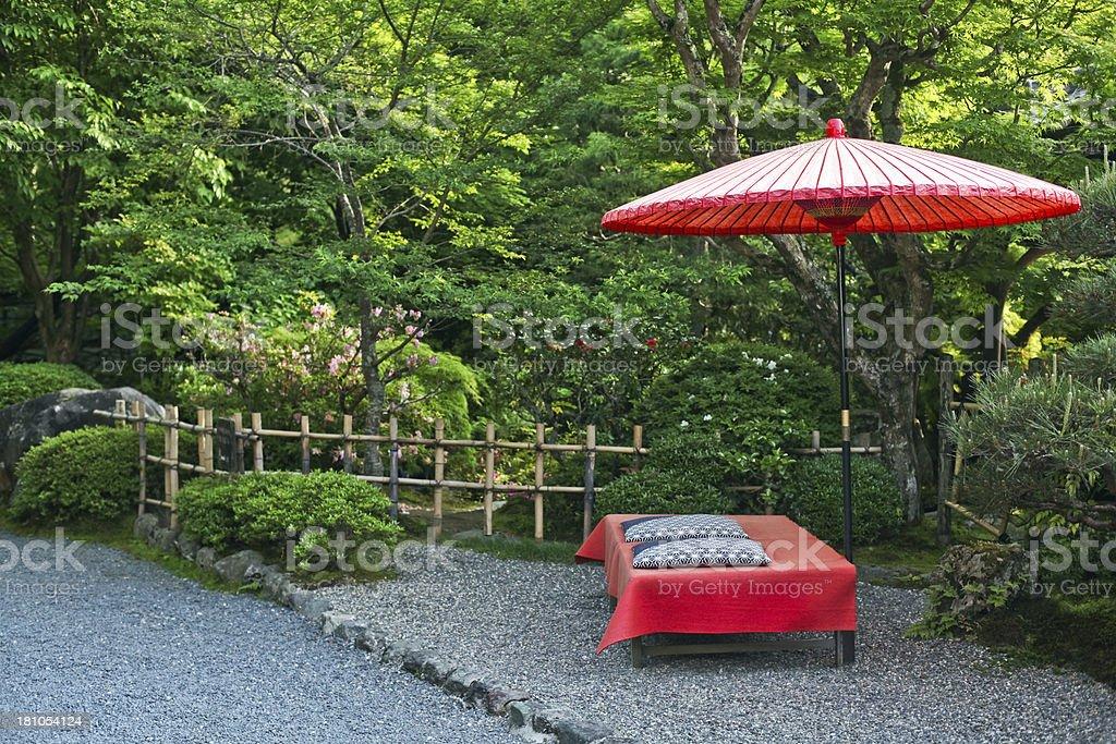 Japanese Style Garden, Kyoto, Japan royalty-free stock photo