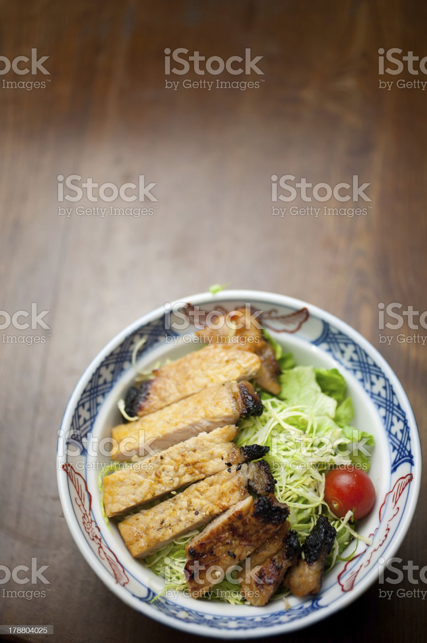 Japanese style Pork chop Misoyaki royalty-free stock photo