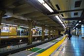 Japanese subway commuter
