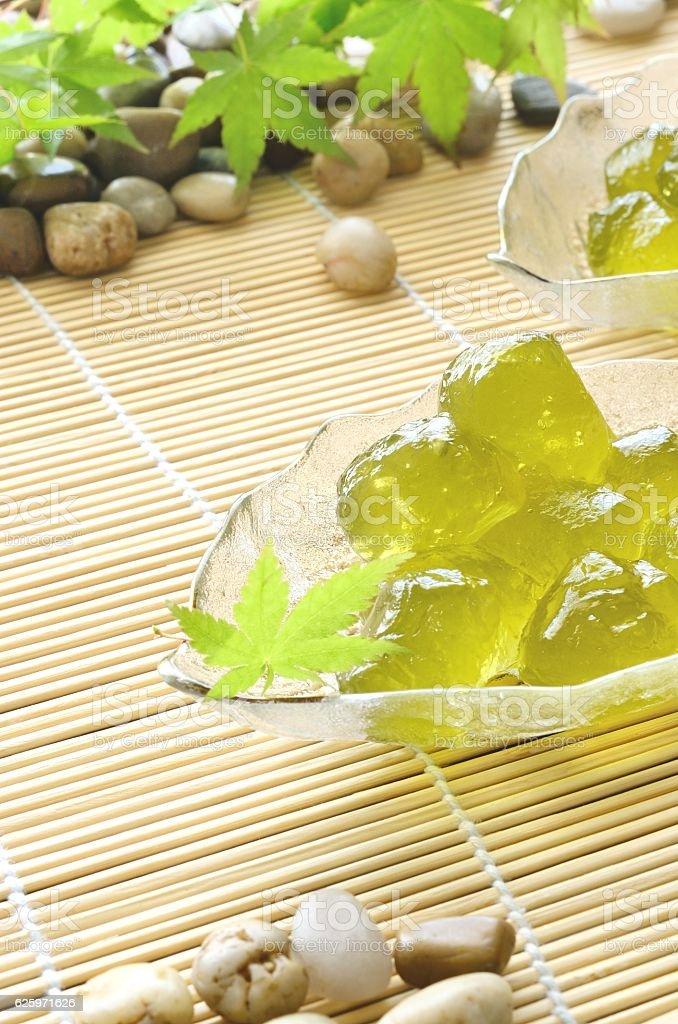 Japanese summer sweets stock photo