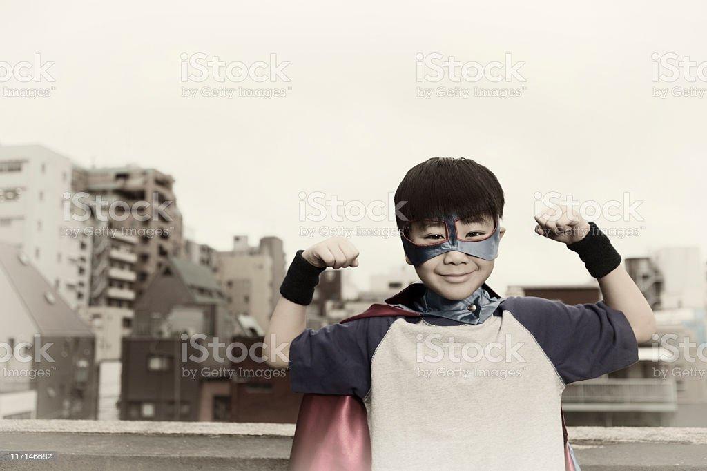 Japanese Superboy royalty-free stock photo