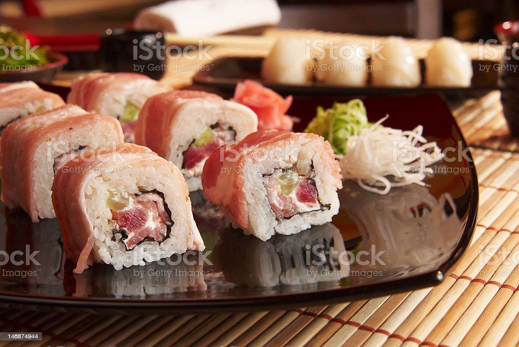 Japanese Sushi Closeup royalty-free stock photo