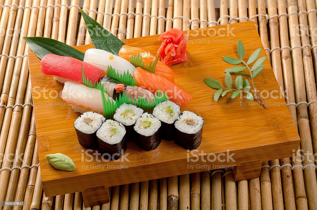 Japanese sushi  Roll made of Smoked fish royalty-free stock photo