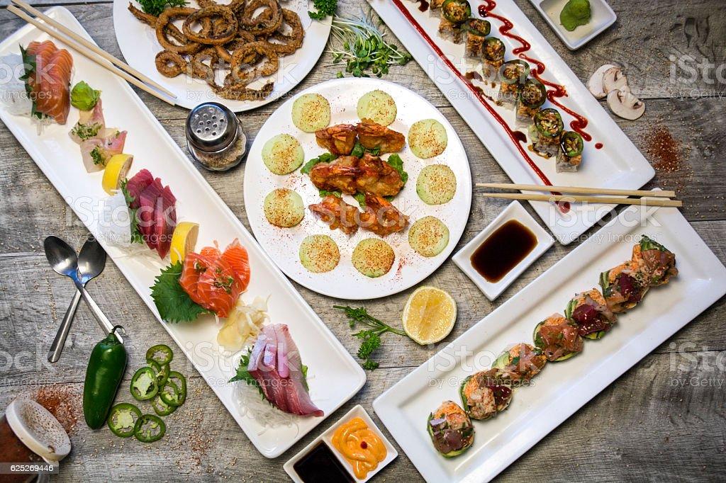 Japanese Sushi Sashimi Hero Food Photography Shot stock photo