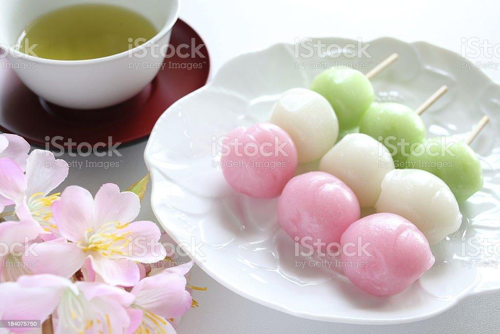 Japanese sweet food, Mochi dango royalty-free stock photo