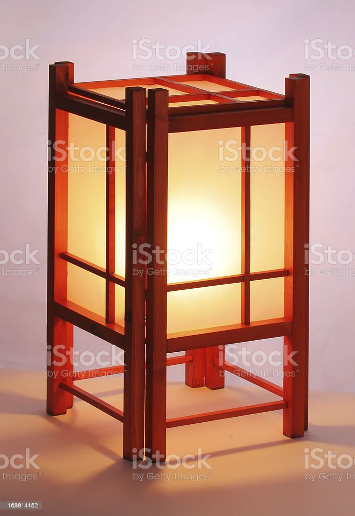 Japanese table lamp royalty-free stock photo
