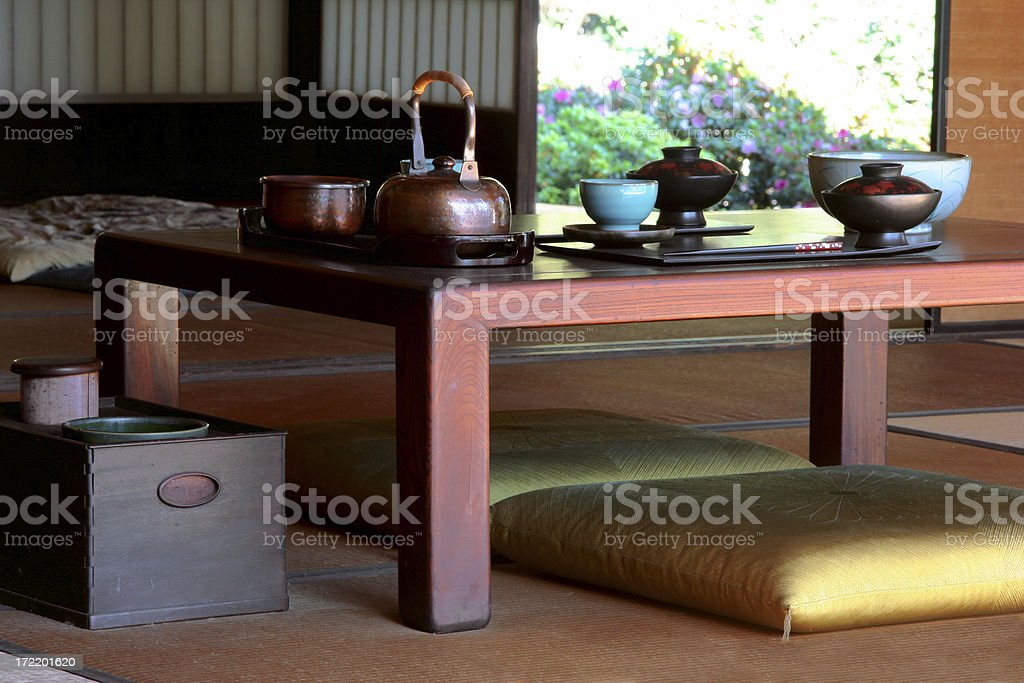 Japanese Table Setting royalty-free stock photo