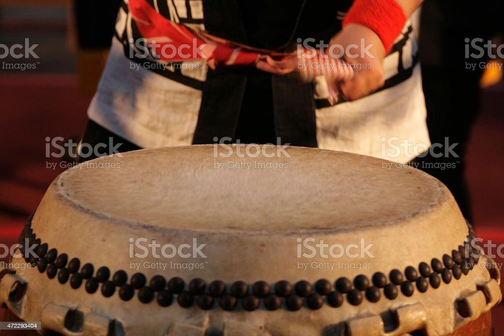 Japanese Taiko Drum stock photo