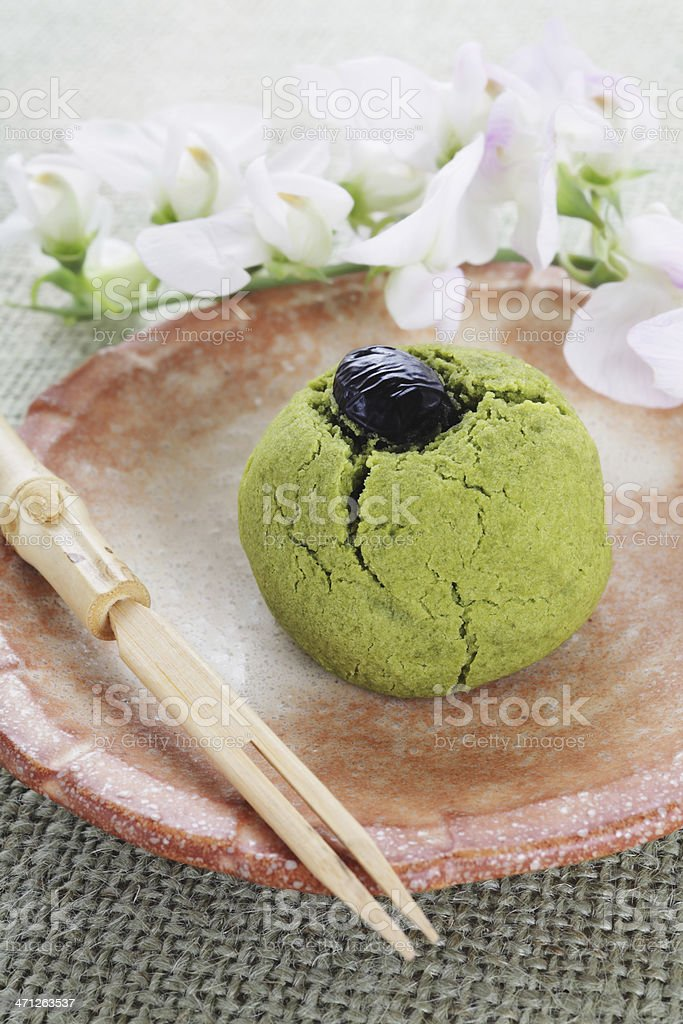 Japanese tea cake stock photo