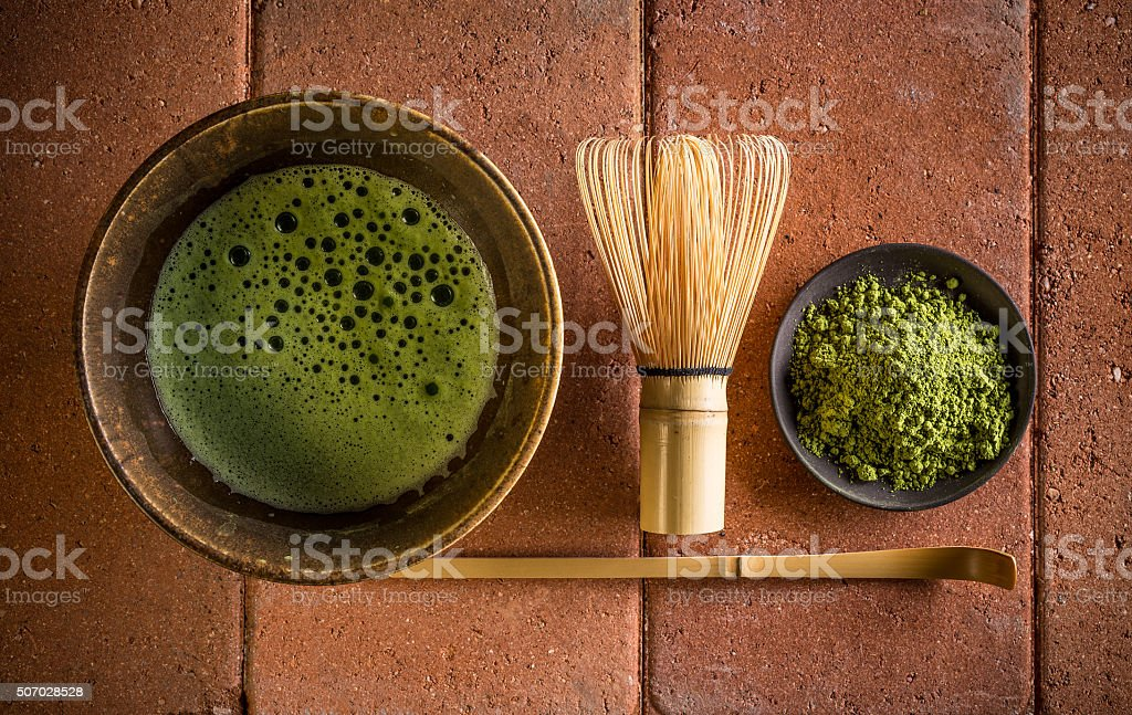 Japanese tea ceremony stock photo