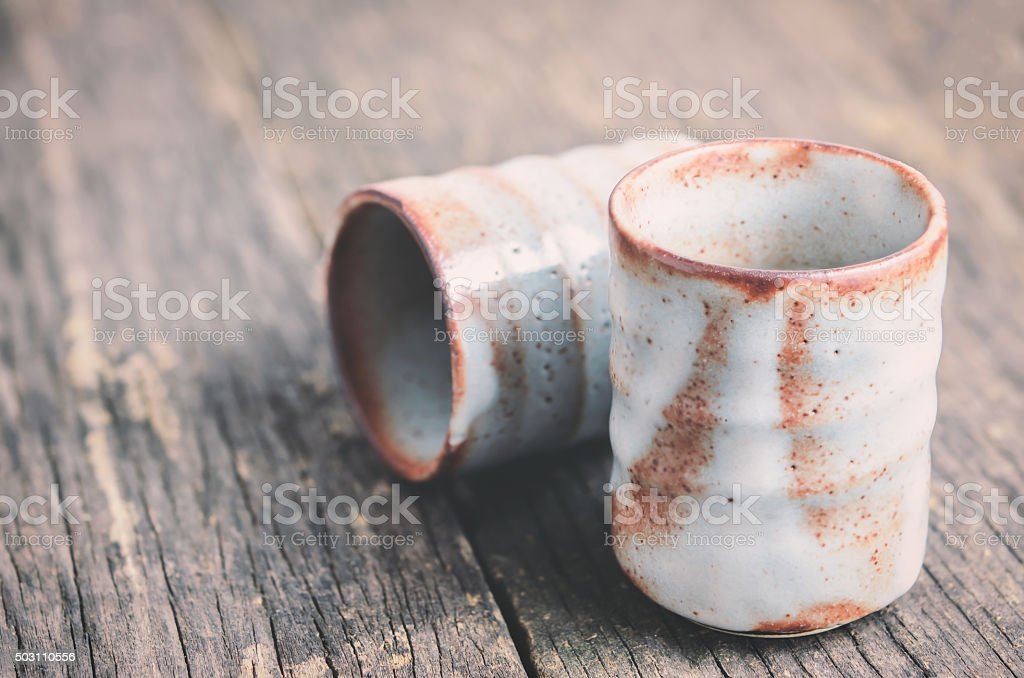 Japanese tea cup stock photo