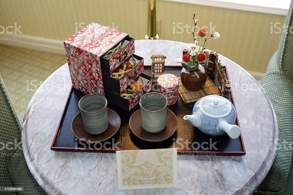 Japanese Tea For Two royalty-free stock photo