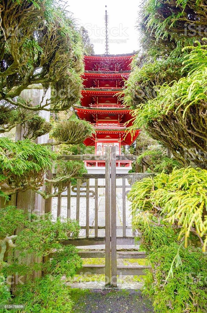 Japanese Tea Garden, San Francisco stock photo
