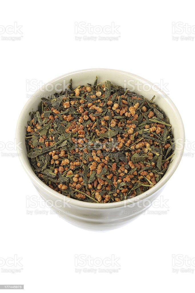 Japanese Tea Leaves stock photo