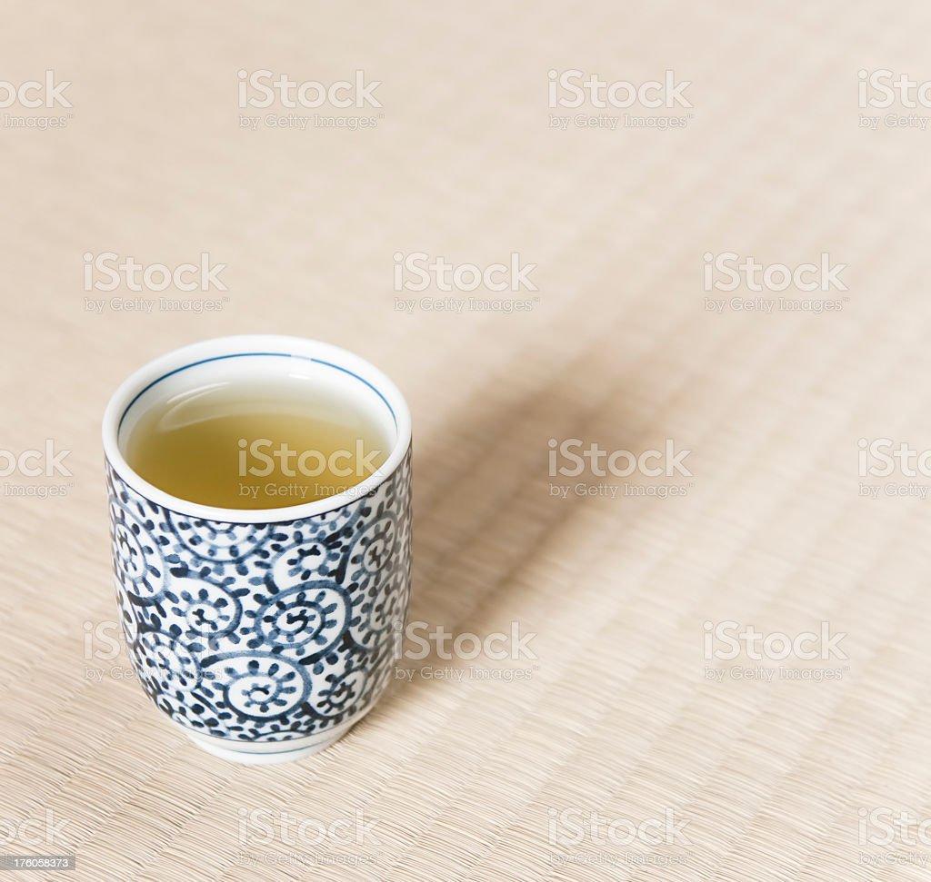 Japanese Tea on Tatami Mat royalty-free stock photo