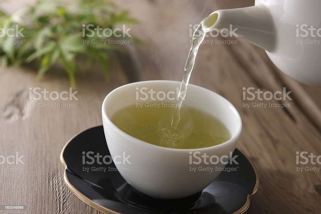 Japanese tea stock photo
