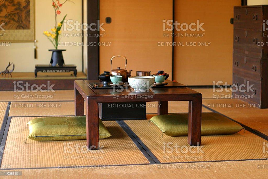 Japanese Tea Room stock photo